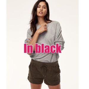Aritzia Community Axiom lightweight cotton shorts